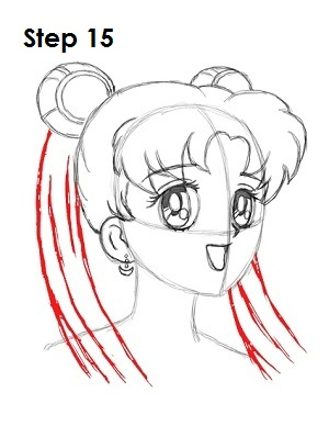 How To Draw Sailor Moon Hair