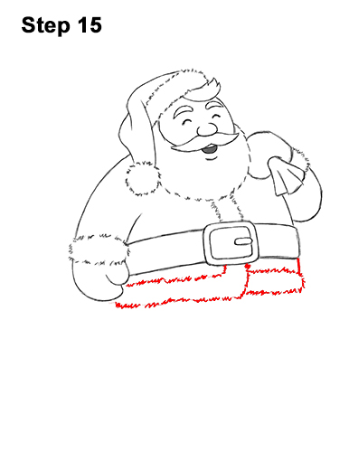 How to Draw Santa Claus Christmas Full Body 15
