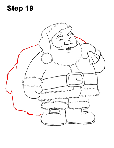 How to Draw Santa Claus Christmas Full Body 19