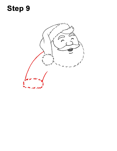 How to Draw Santa Claus Christmas Full Body 9