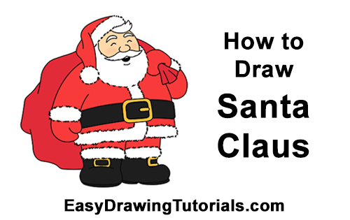 How to Draw Santa Claus Christmas Full Body
