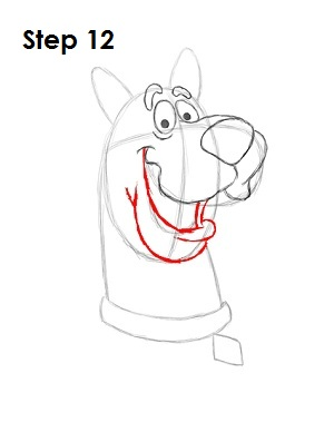 How to Draw Scooby-Doo Step 12