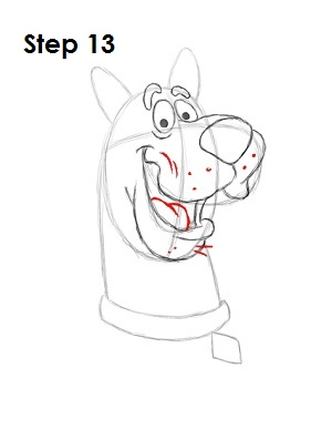 How to Draw Scooby-Doo Step 13