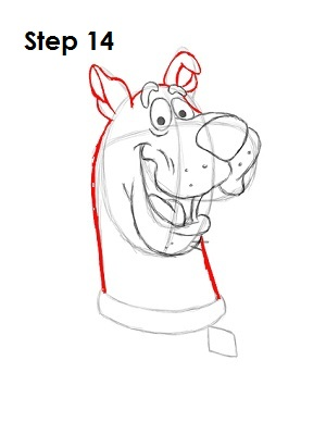 How to Draw Scooby-Doo Step 14