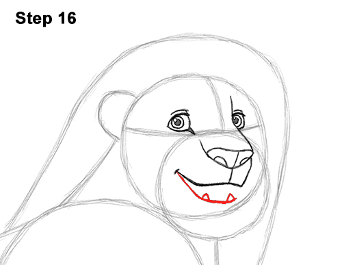 Draw Adult Grown Up Simba Lion King Disney 16