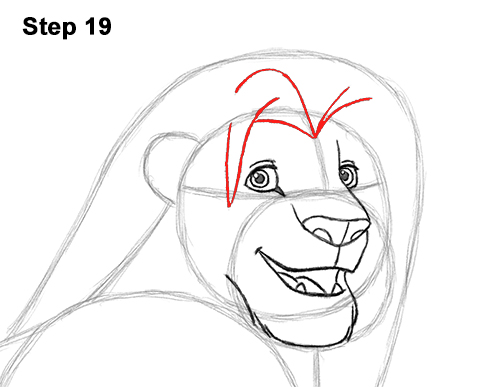 Draw Adult Grown Up Simba Lion King Disney 19