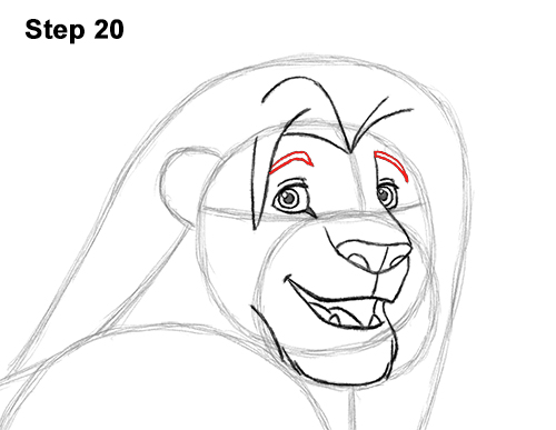 Draw Adult Grown Up Simba Lion King Disney 20
