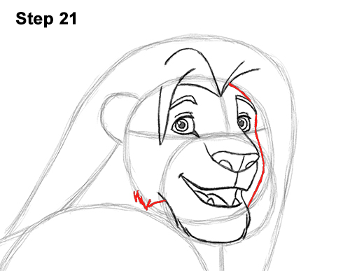 Draw Adult Grown Up Simba Lion King Disney 21