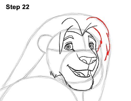 Draw Adult Grown Up Simba Lion King Disney 22
