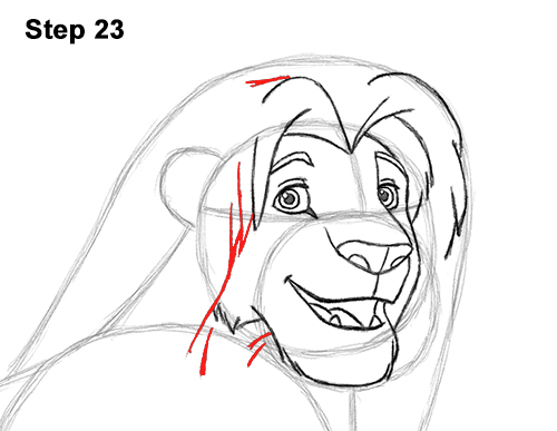 Draw Adult Grown Up Simba Lion King Disney 23