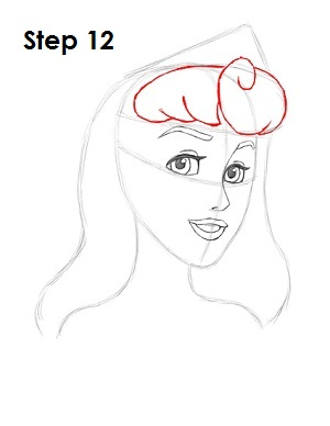 Draw Sleeping Beauty Step 12
