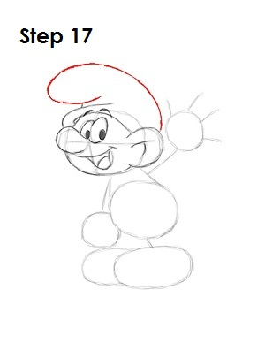 How to Draw a Smurf Step 17