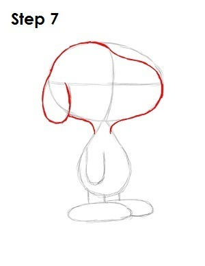How to Draw Snoopy Step 7