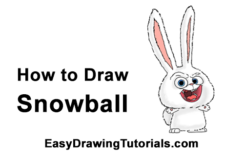 How to Draw Snowball Secret Life of Pets