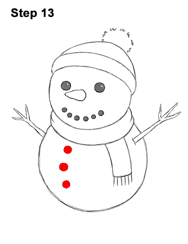 Watch the short video and follow along with us, it's easy! In a few short minutes you'll learn how to draw your own snowman.