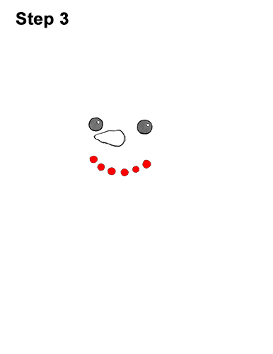How to Draw Cute Cartoon Snowman Hat Scarf 3
