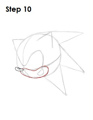 How to Draw Sonic X Step 10