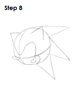 How to Draw Sonic X Step 8