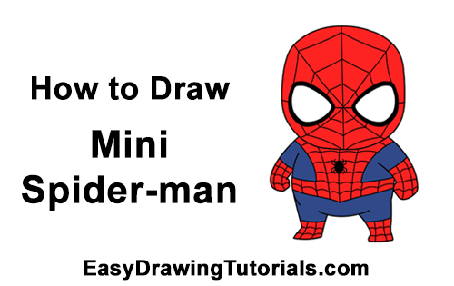 How To Draw Spider Man Mini