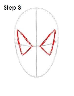 How to Draw Spider-Man Step 3How To Draw Ultimate Spider Man