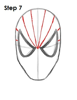 How to Draw Spider-Man Step 7
