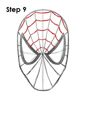 How to Draw Spider-Man Step 9