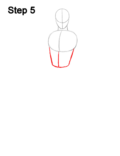 Draw spider man body 5