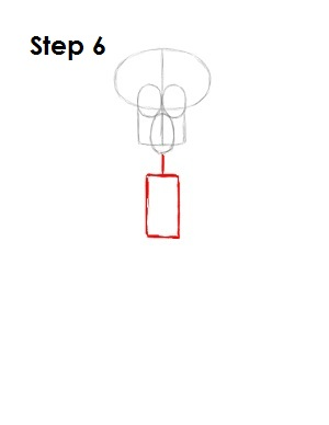 How to Draw Squidward Step 6