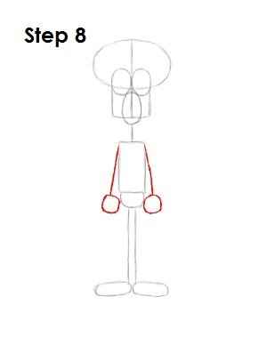 How to Draw Squidward Step 8