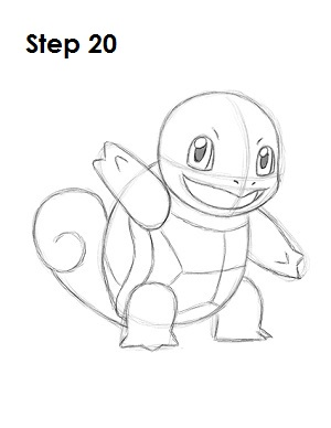 how to draw squirtle step by step video