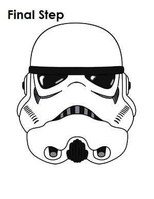 How To Draw Stormtrooper Star Wars Completed Drawing
