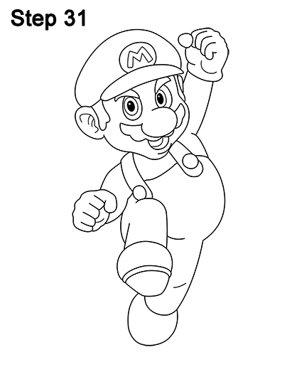 Easy super mario drawings images for Super easy drawings