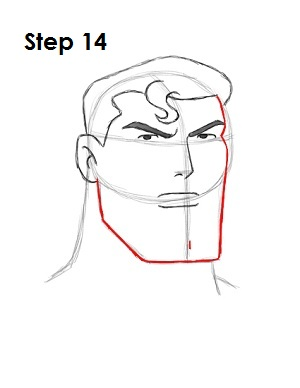 Draw Superman Step 14