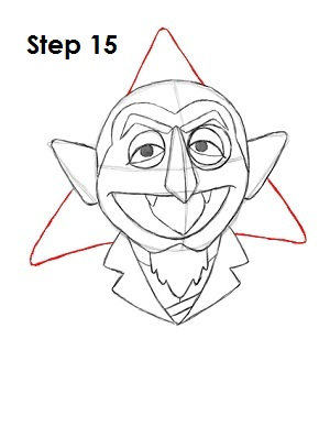 How to Draw The Count Step 15