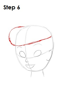 Draw Tinkerbell Step 6
