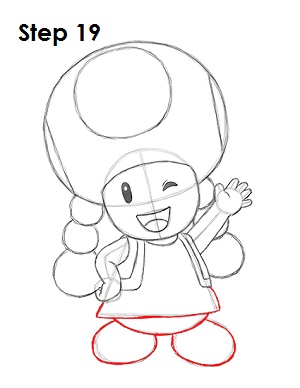 How to draw toadette - Dessiner toad ...