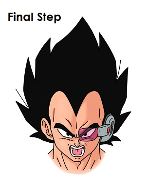 vegeta drawing you have to color it you can use markers color pencilsVegeta Color Drawing