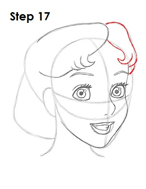 how to draw hair from behind