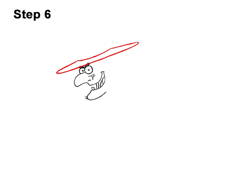 How to Draw Cartoon Witch Flying Broom Halloween 6
