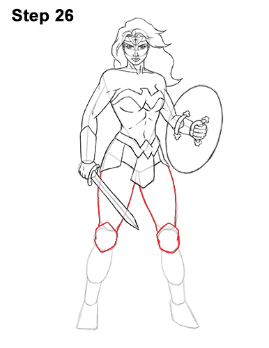 How to draw wonder woman full body for Easy body drawings