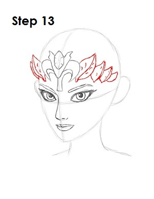 how to draw zelda step 13