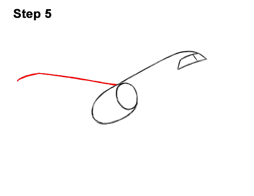 How to Draw Cartoon Airplane 5