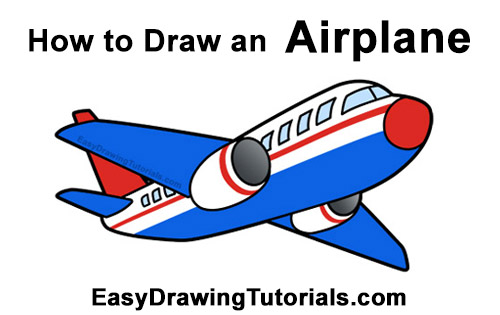 How to Draw Cartoon Airplane
