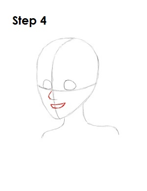 How to Draw Ariel Step 4