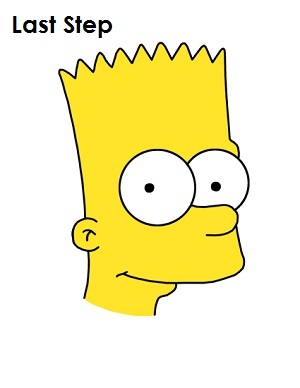 Bart Simpson Completed Drawing