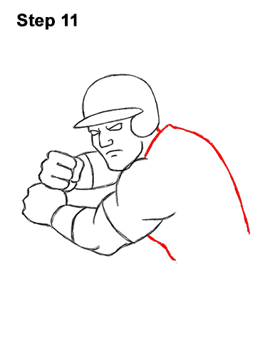 How to a Draw Cartoon Baseball Player Batter 11