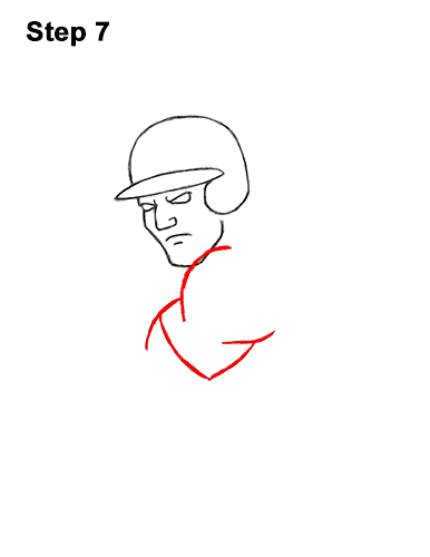 How to a Draw Cartoon Baseball Player Batter 7
