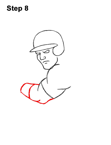 How to a Draw Cartoon Baseball Player Batter 8