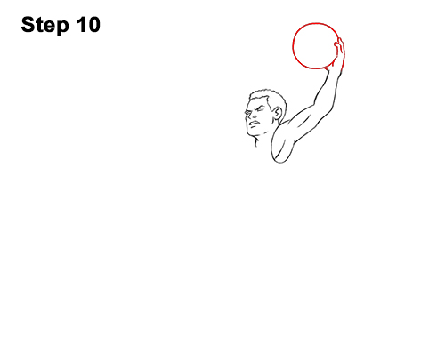 How to a Draw Cartoon Basketball Player Dunking 10