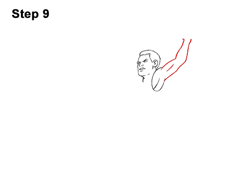 How to a Draw Cartoon Basketball Player Dunking 9